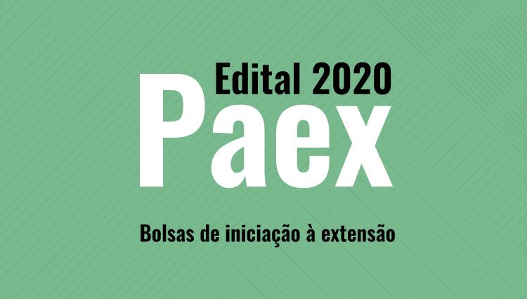 Inscrições para o Edital PAEX 01/2020 para concessão de bolsas para estudantes do Ifes